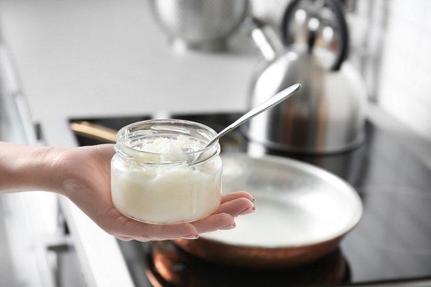 Kokosový olej na smažení není úplně ideální.