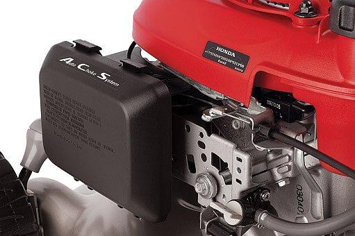 Snadný start (automatický sytič), nízká hlučnost (čtyřtakty s rozvodem OHC)