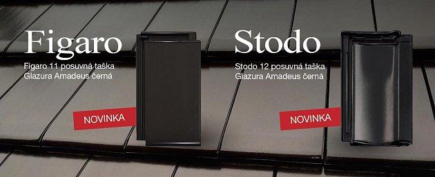Novinky TONDACH 2016 – tašky Stodo 12 a Figaro 11 nově s černou glazurou