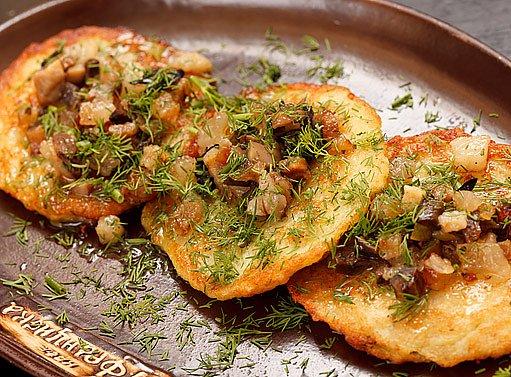 houbový bramborák