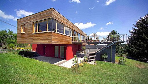 Nízkoenergetický rodinný dům - masivní dřevostavba, foto KLH