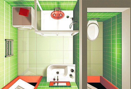 možné řešení koupelny
