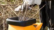 Drtič větví vytvoří jemnou drť, která má další využití.