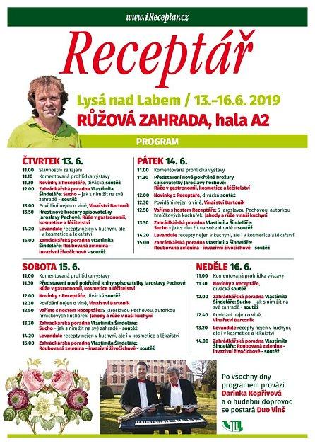 Program dnů Receptáře - Růžová zahrada 2019