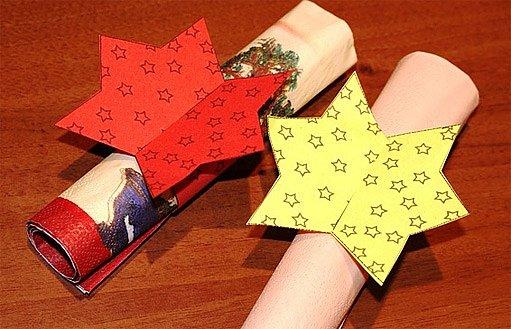 vánoční kroužky na ubrousky