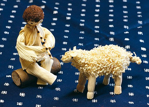 pasáček s ovečkou z kukuřičného šustí