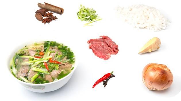 Na přípravu vietnamské polévky je potřeba jen pár surovin.