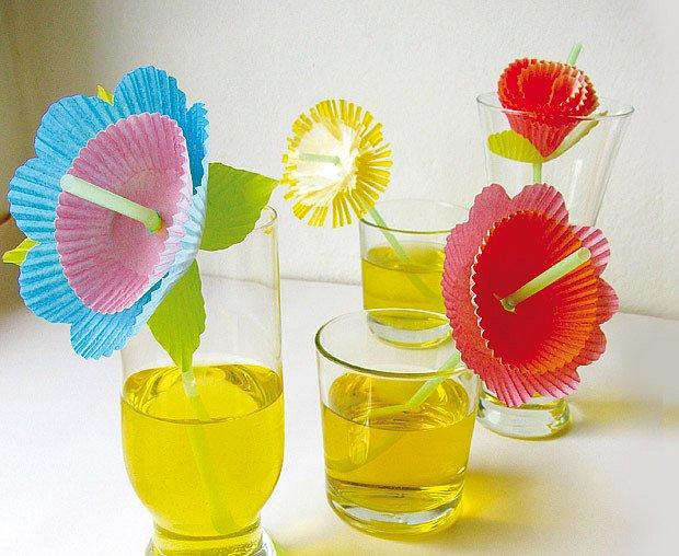 brčka s květinou