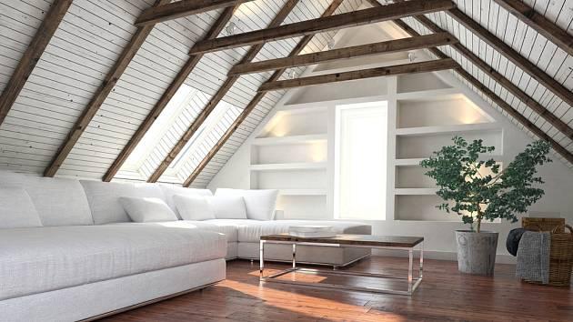 V podkroví je vždy dobré doplnit i svislá okna