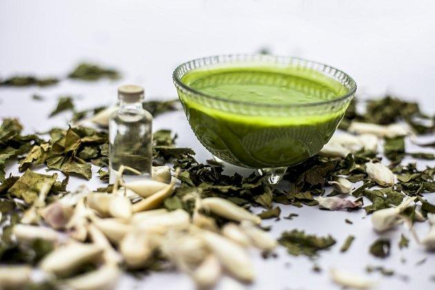 Neemový strom je léčivý. Neemová semínka se používají na výrobu obličejových masek