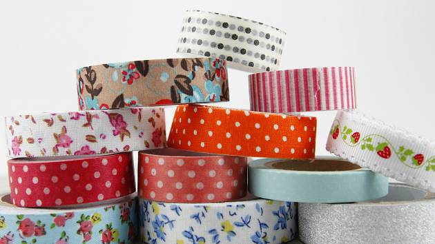 Škála barev, šířek a vzorů washi pásek je obrovská.