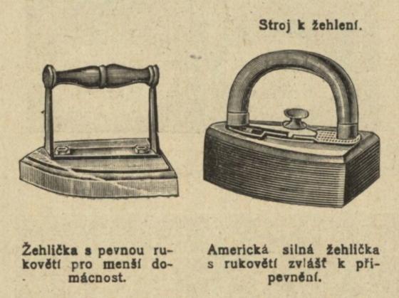 Žehličky z počátku 20. století.