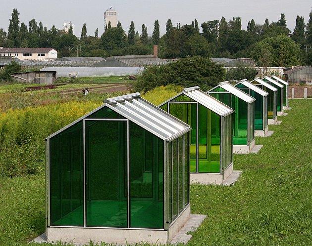 Gruene Sauce Denkmal - skleníky jako památník frankfurtské zelené omáčky.