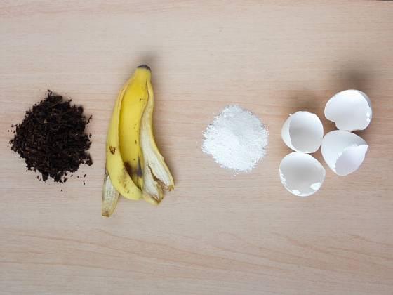 Dokonalá domácí recyklace - banánové slupky i vaječné skořápky proměníme ve vynikající hnojivo.