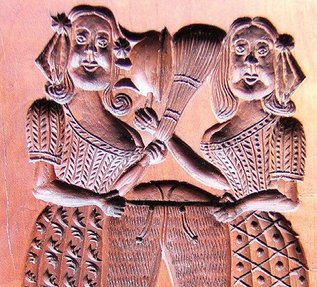 Commedia dell'arte ve dřevě aneb svár žen o pánské kalhoty (replika)