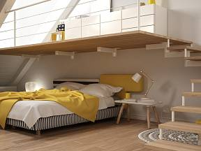 Půdní byt je vždy originální