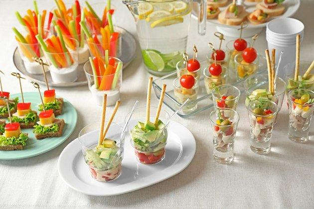 Zelenina na slavnostním stole zachutná