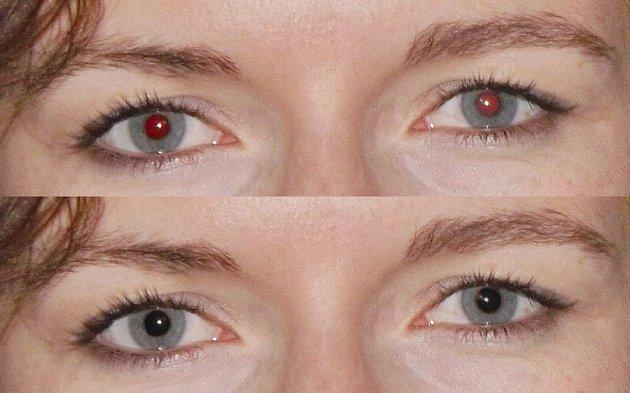 Odstranit můžete i nepříjemný efekt červených očí.
