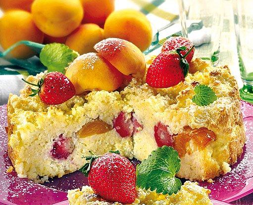 Jáhlový nákyp s ovocem