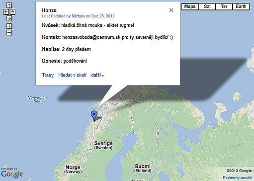 kvásková mapa - kvásek z norska