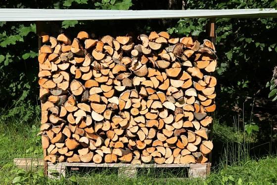 Aby dřevo nevlhlo od země můžeme jej podložit dřevěnou paletou.