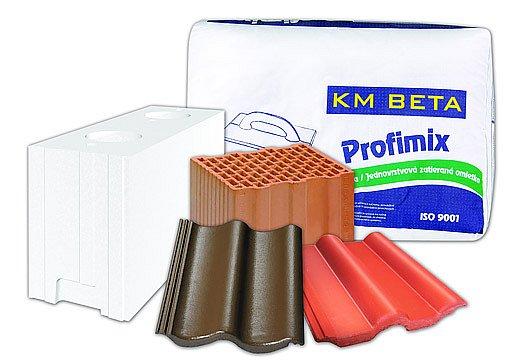 KM Beta nabízí široký sortiment materiálů pro hrubou stavbu.