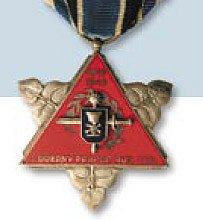 pamětní medaile 1. úderného pluku ruských legií z roku 1947 - bylo uděleno pouze 500 kusů