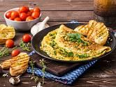 Omeleta se nesmí přepéct