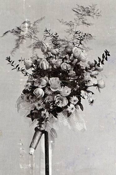 svatební kytice z dob první republiky