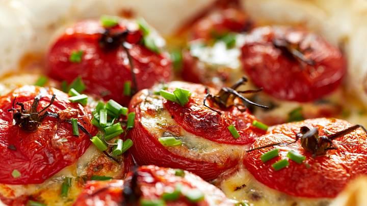Recept: Zapečená plněná rajčata