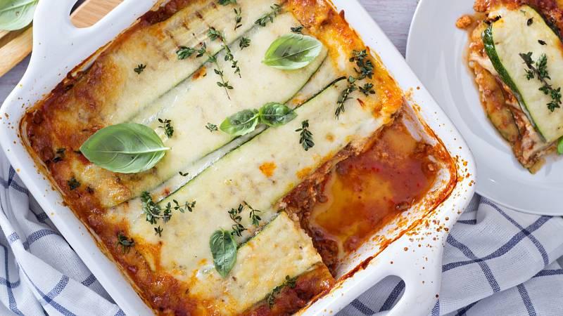 Zkuste zdravé a vynikající lasagne, kde je těstovina nahrazena cuketou.