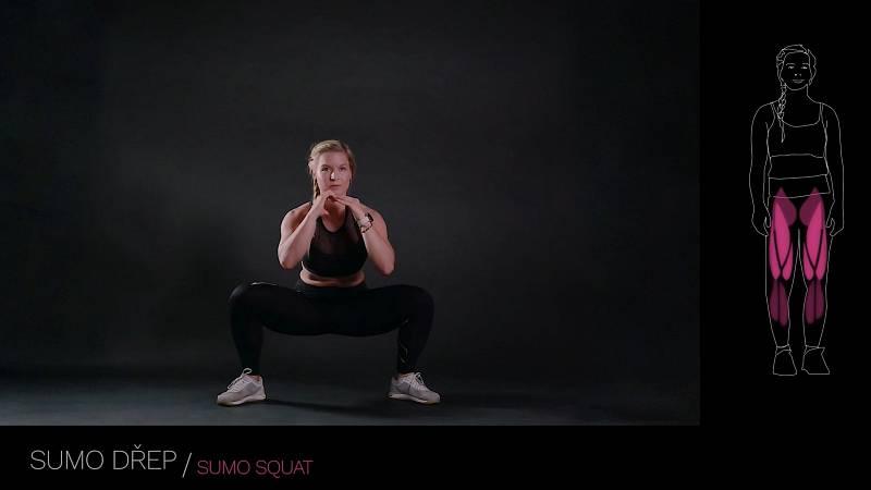Sumo dřep / sumo squat