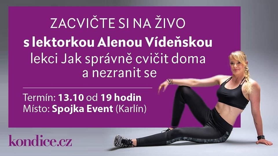 Cvičení na živo 13.10. s Alenou Vídeňskou