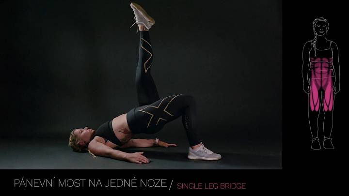 Pánevní most na jedné noze / single leg bridge