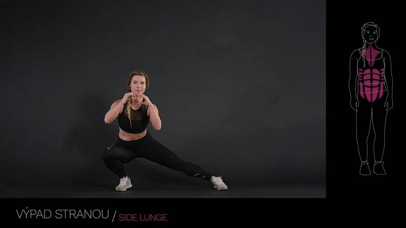 Výpad stranou / side lunge