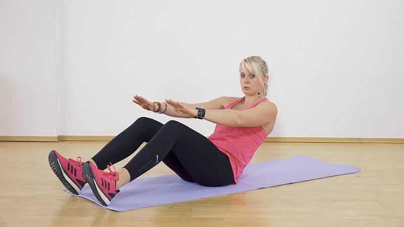 Posílení středu těla bez zatížení kolen 1
