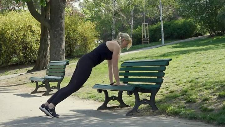 Cvičení na lavičce 2