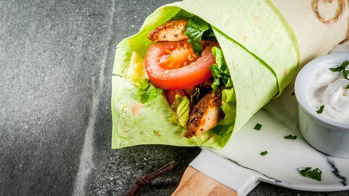 Salátový wrap bez sacharidů