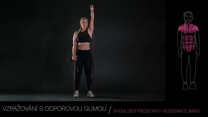 Tlak s odporovou gumou / Shoulder press with resistance band