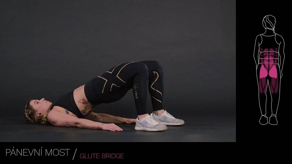 Pánevní most / glute bridge