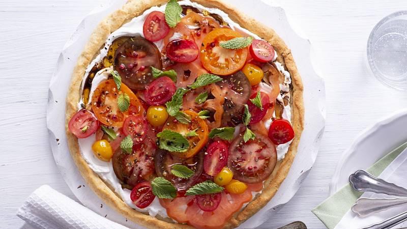 Recept: Koláč s čerstvými rajčaty