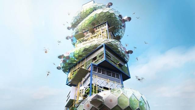 """Japonská kancelář Noiz Architects navrhla výškové město s názvem """"Sibuya hyper cast 2"""""""