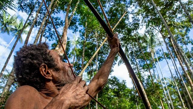 K lovu používají Korowaiové primitivní nástroje