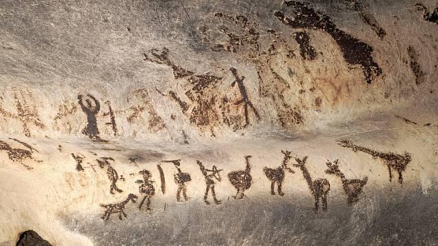 Prehistorická jeskynní malba v Bulharsku