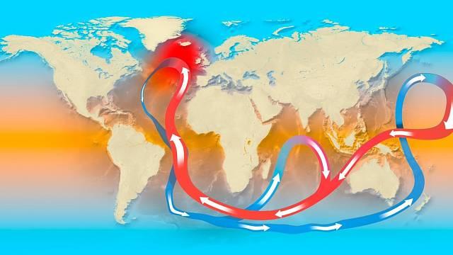 Oceánské proudy ovlivňují teplotu oblastí, kterými procházejí.