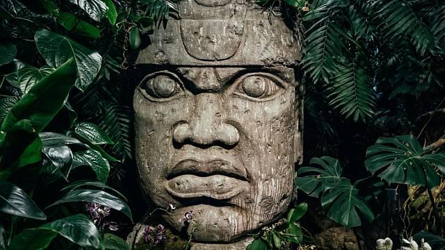 Monumentální olmécké hlavy