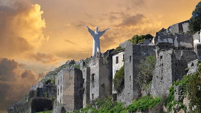 Půvabné městečko Marateana na jihu Itálie.