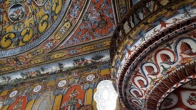 Interiér mešity, Makedonie