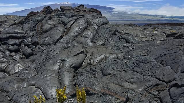 Praskající magma sopky Mauna Loe
