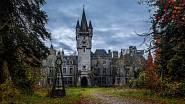 Opuštěný hrad v Belgii